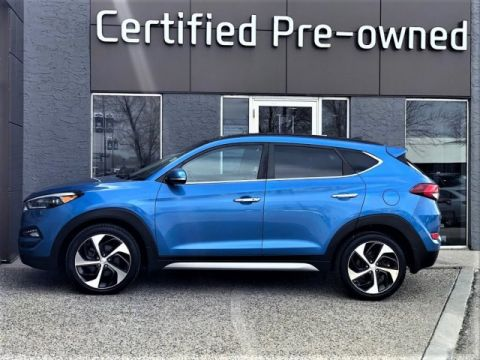 Pre-Owned 2017 Hyundai Tucson LIMITED w/ TURBO / NAVI / PANO ROOF Sport Utility